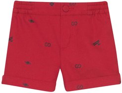 Red Shorts With Elastic Waistband