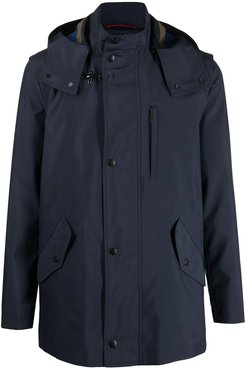 Navy-blue Hooded Raincoat