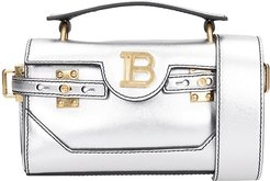 Bbuzz Baguette Hand Bag In Silver Leather