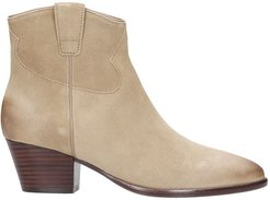 Houston 01 Texan Ankle Boots In Beige Suede