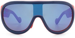 Moncler Ml0106 Blue & Red Sunglasses
