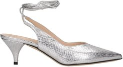 Pumps In Silver Leather