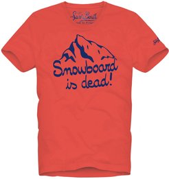 Snowboard Is Dead Red T-shirt
