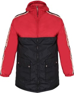 Blu And Red Padded Jacket For Boy