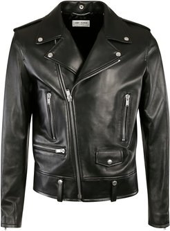 Classic Multi-zipped Biker Jacket