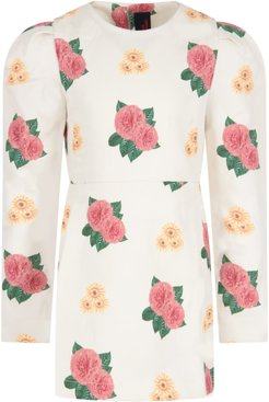 Ivory Dress For Girl With Flowers