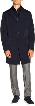 Coat Fay Morning Medium Coat In Waterproof Nylon With Removable Waistcoat