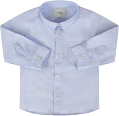Light Blue Shirt For Baby Boy With Double Ff