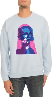 The Female Bonding Crewneck Sweatshirt in Light Blue
