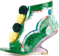 Irregular Choice for Women: Carnival Green Wedges