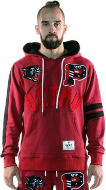 KLEEP Men's Premium French Terry Pullover Hoodie with Patches&Taping Details