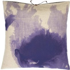 Printed Linen Pillow Wash Lilac