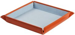 Sapphire Blue Large Leather Valet Tray by AHAlife