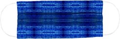 Nicole Miller Shibori Stripe Face Mask In Indigo | Cotton