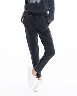 Nicole Miller Rock & Royalty Jogger Pants In Black   Cotton   Size Extra Large