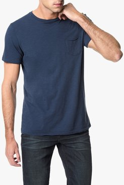 Joe's Jeans Chase Raw Edge Crew Men's T-Shirt in Night Shade/Blue   Size 2XL   Cotton