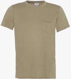 Joe's Jeans Chase Raw Edge Crew Men's T-Shirt in Tropical Olive/Green   Size 2XL   Cotton