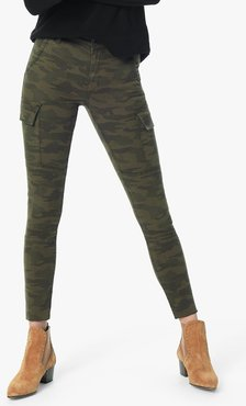 Joe's Jeans The Charlie Ankle High Rise Skinny Ankle Women's Jeans in Green Camo/Prints | Size 34 | Cotton/Spandex/Polyester