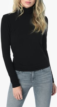 Joe's Jeans Harriette Turtleneck Women's Tops in Black | Size Large