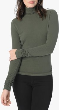 Joe's Jeans Harriette Turtleneck Women's Tops in Forest Floor/Green | Size Large