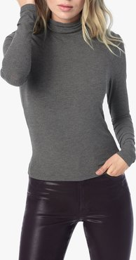 Joe's Jeans Harriette Turtleneck Women's Tops in Heather Grey | Size Large