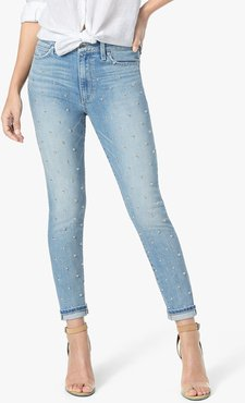 Joe's Jeans The Charlie Ankle High Rise Skinny Ankle Women's Jeans in Lilli/Light Indigo | Size 34 | Cotton/Polyester/Elastane