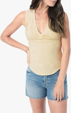 Joe's Jeans Gwen Sleeveless T-Shirt Women's in Pastel Yellow | Size XS