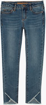 Joe's Jeans Mid Rise Tulip Fray (Little Girls) Women's Jeans in Sienna/Other Hues | Size 6X | Cotton/Spandex
