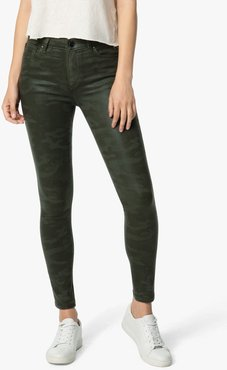 Joe's Jeans The Icon Ankle Mid-Rise Skinny Ankle Women's Jeans in Coated Laser Camo/Prints | Size 34 | Cotton/Spandex/Polyester