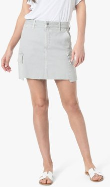 Joe's Jeans The Army Skirt Women's in Dovetail/Grey | Size 34 | Cotton/Elastane