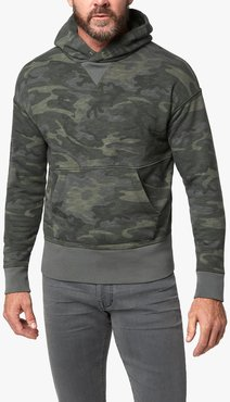 Joe's Jeans French Terry Hoodie Men's Jacket in Green Camo/Prints | Size 2XL | Cotton