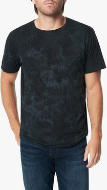Joe's Jeans Chase Crew Men's T-Shirt in Black Marble | Size 2XL | Cotton