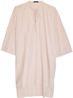 Cotton Relaxed Shirt Dress in Blush