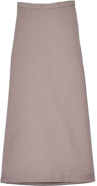 Side Slit Skirt in Stone Water