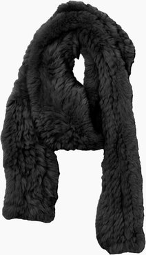 Knitted Rabbit Scarf in Noir