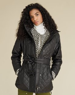 Bonny Quilted Leather Coat