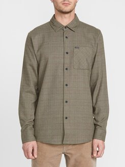 Volcom Canchola Long Sleeve - Army Green Combo - Army Green Combo - L
