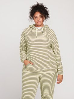 Volcom Lived In Lounge Hoodie Plus Size - Dusty Green - 20W