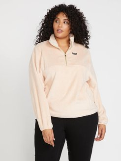 Volcom Pheelin Phuzzy Pullover Plus Size - Dusty Rose - Dusty Rose - 16W