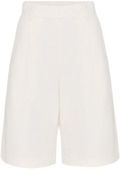 High Waisted Tailored Loose Short in Ivory size 10U/6