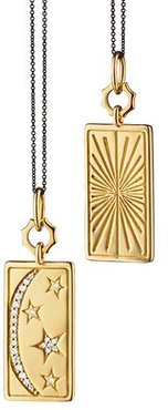 Sun, Moon and Stars Medallion Necklace in Yellow Gold