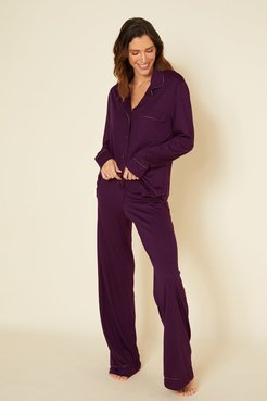 Bella Relaxed Long Sleeve Top & Pant | Xsmall Purple Cotton Set