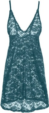Never Say Never Nightie Chemise | Xlarge Blue Lace Chemise