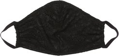 Never Say Never V Face Mask   One Size Black Lace Accessory