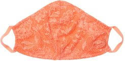 Never Say Never V Face Mask | One Size Orange Lace Accessory
