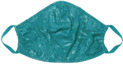 Never Say Never V Face Mask   One Size Green Lace Accessory