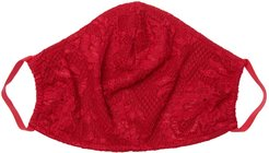 Never Say Never V Face Mask | One Size Red Lace Accessory