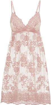 Rosie Slip | Small Beige Lace Chemise
