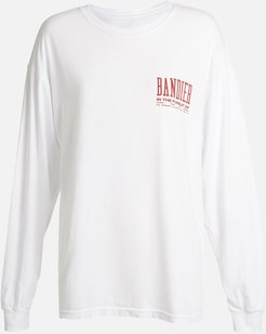 100% Cotton Bandier Long Sleeve in Optic White