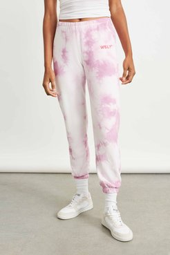 The Ecosoft Classic Jogger in Washed Orchid Tie Dye Bandier